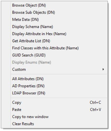 LDAP Context menu