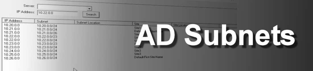AD Subnets