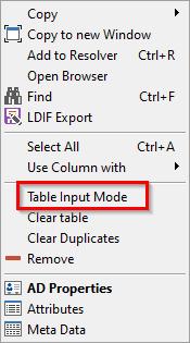 Input Mode